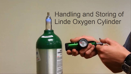 Linde Oxygen Cylinder- Handling and Storing of compressed gas cylinders