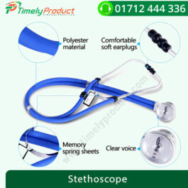 COFOE PVC Dual Tube Professional Stethoscope for Cardiology & General (Blue)