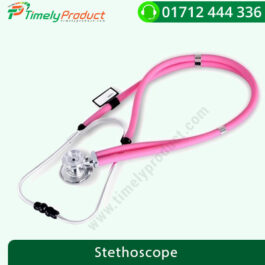 COFOE PVC Dual Tube Professional Stethoscope for Cardiology & General (Pink)
