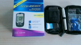Accu-Answer Glucose Test Meter – black